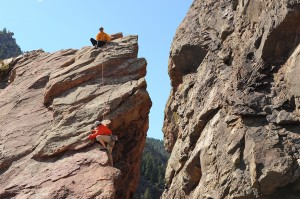 Climbing in Eldorado Canyon  Photo: Tom Sciolino