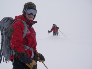 Marcus and Christopher Duda Skiing in the Teton Backcountry  Photo: Nat Patridge
